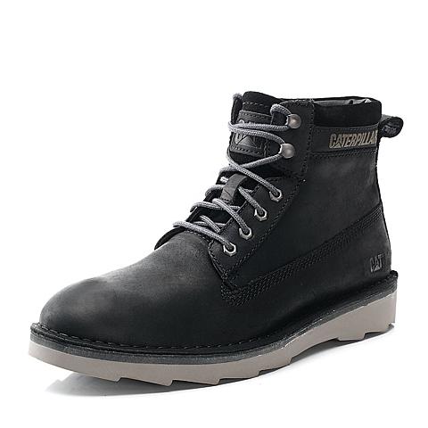 CAT卡特黑色牛皮男户外休闲低靴P719090E3WDR01粗犷装备(Rugged)