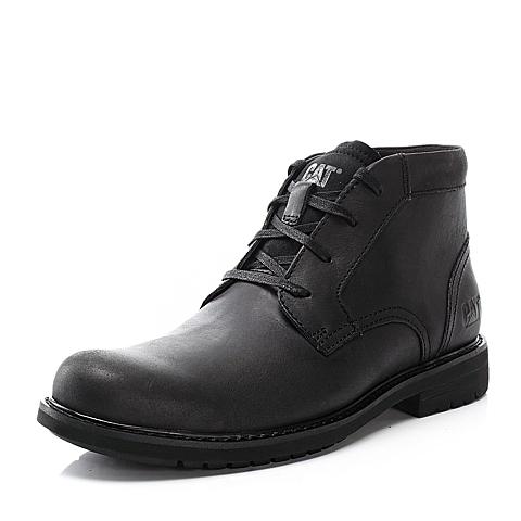 CAT卡特黑色牛皮男户外休闲低靴P719119E3UDR01粗犷装备(Rugged)