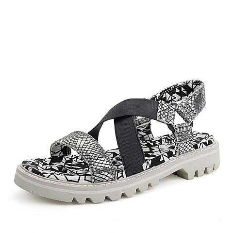 CAT/卡特春夏专柜同款牛剖层革/织物女鞋P307676E1TLR07