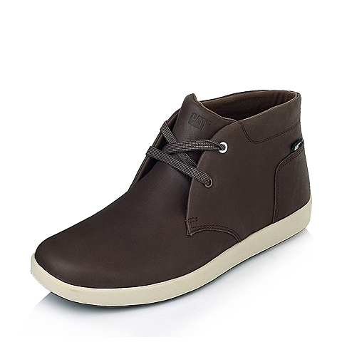 CAT/卡特专柜同款浅棕色牛皮男子户外休闲靴P720077E3EDC35  潮流密码