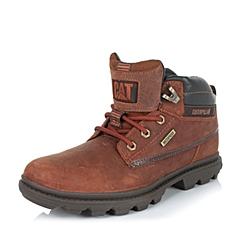 CAT/卡特专柜同款秋冬红棕色男子牛皮/织物休闲靴粗犷装备(Rugged)P719109