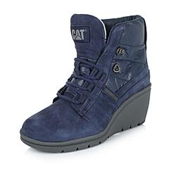 CAT/卡特专柜同款秋冬紫色女子牛皮/织物休闲靴活跃装备(Active)P308003