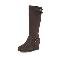 CAT/卡特专柜同款秋冬咖啡色女子牛皮休闲靴传奇复古(Legendary Raw)P308022