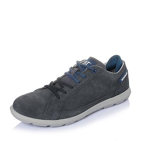 CAT卡特年春夏灰蓝色牛皮男士休闲鞋潮流密码(CODE)P719785F1KMC45