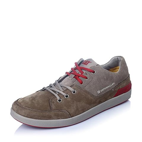 CAT/卡特年春夏浅棕色牛皮男士休闲鞋潮流密码(CODE)P720804F1EMC35