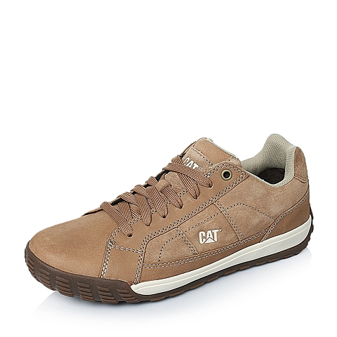 CAT卡特年春夏浅棕色牛皮/猪皮男士休闲鞋活跃装备(Active)P719841F1YMA35