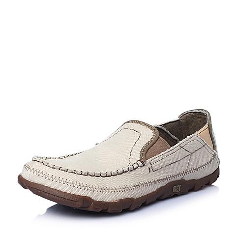 CAT卡特2016春夏专柜同款灰白织物男休闲鞋休闲装备(Casual)P714830F1EMS08