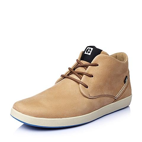 CAT卡特春夏专柜同款杏色牛皮男休闲鞋活跃装备(Active)P720125F1EDC41