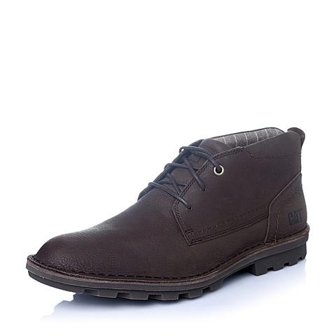 CAT/卡特年春夏咖色牛皮男士休闲靴粗犷装备(Rugged)P719884F1UDR31