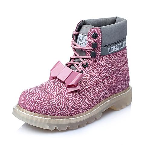 CAT卡特2016年春专柜同款粉色女士休闲靴粗犷装备(Rugged)P308371F1BDR73