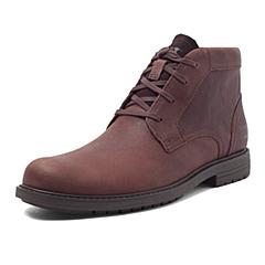 CAT/卡特秋冬 红棕色牛皮/织物男士户外休闲鞋粗犷装备(Rugged)P720281F3UDR43