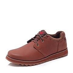 CAT/卡特秋冬 专柜同款棕色牛皮/织物男士户外休闲鞋活跃装备(Active)P720069F3EMC45