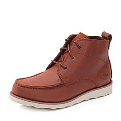 CAT/卡特秋冬 专柜同款砖红色牛皮男士户外休闲鞋粗犷装备(Rugged)P713598F3EDR25