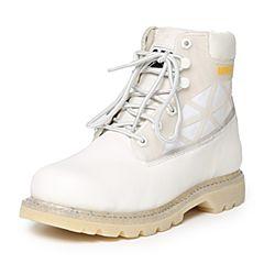 CAT/卡特秋季专柜同款白色牛皮/织物男户外休闲鞋粗犷装备P720372F3BDR10