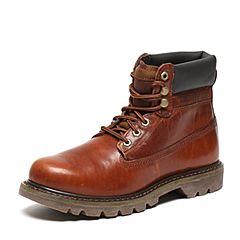 CAT/卡特秋季专柜同款红棕色牛皮/织物男户外休闲鞋粗犷装备P720264F3BDR43