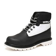 CAT/卡特秋季专柜同款黑色/白色合成革/织物男户外休闲鞋粗犷装备P720368F3BDR09
