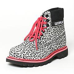 CAT/卡特秋季专柜同款豹纹牛剖层革/织物女户外休闲鞋粗犷装备P308867F3BDR01