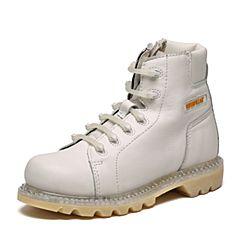 CAT/卡特秋季专柜同款白色牛皮/织物女户外休闲鞋粗犷装备P308892F3BDR10