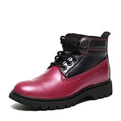 CAT/卡特秋季专柜同款玫红/银黑牛皮/织物女户外休闲鞋粗犷装备P308972F3BDR48