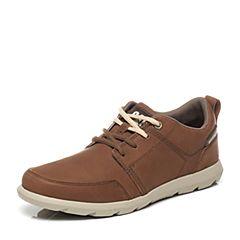 CAT/卡特专柜同款棕色牛皮男休闲鞋活跃装备(Active)P719783