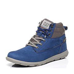 CAT/卡特专柜同款蓝色牛皮男休闲鞋活跃装备(Active)P719771
