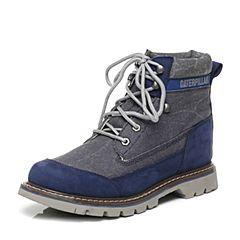CAT/卡特专柜同款蓝色织物/牛皮男休闲鞋粗犷装备(Rugged)P719695