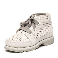CAT/卡特专柜同款白色牛皮/织物女休闲鞋粗犷装备(Rugged)P308441