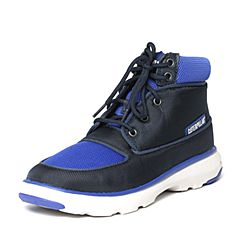 CAT/卡特秋季专柜同款黑色/蓝色织物/牛皮男户外休闲鞋活跃装备P720730F3MDA75