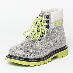 CAT/卡特秋季专柜同款银灰色牛剖层革/织物女户外休闲鞋粗犷装备P308868F3BDR01