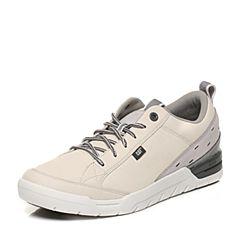 CAT卡特2017春夏新款米白色牛皮革男休闲鞋活跃装备(Active)P721157G1FMA11