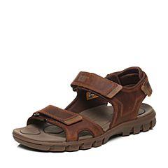 CAT/卡特春夏棕色牛皮革男户外休闲鞋潮流密码(CODE)P718496G2TLC36