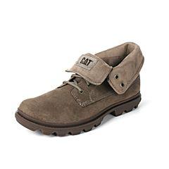 CAT/卡特秋冬褐色牛剖层革男户外休闲鞋粗犷装备(Rugged)P719920G3YDR62
