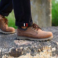 CAT/卡特秋冬深棕色牛皮男户外休闲鞋粗犷装备P721674G3MMR17