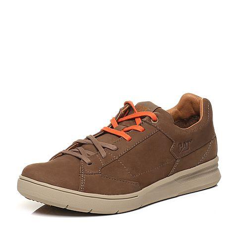 CAT卡特2018春夏季新款棕褐色牛皮革男士户外休闲鞋活跃装备(Active)P722361H1FMA15