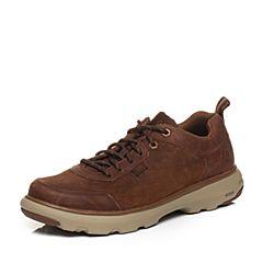CAT卡特2018春夏季新款棕褐色牛皮革男士户外休闲鞋活跃装备(Active)P722248H1MMA15