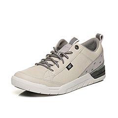 CAT卡特2018春夏季米白色牛皮革/牛剖层革男士户外休闲鞋活跃装备(Active)P721157H1FMA11