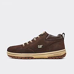 CAT卡特2018秋冬新款浅咖色牛皮革男子休闲鞋P717959H3EMA33