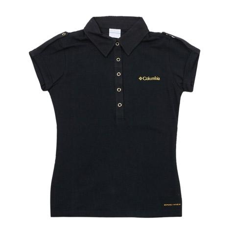 Columbia/哥伦比亚春夏黑色女款超卓速干 刺绣LOGO短袖T恤LL6326010