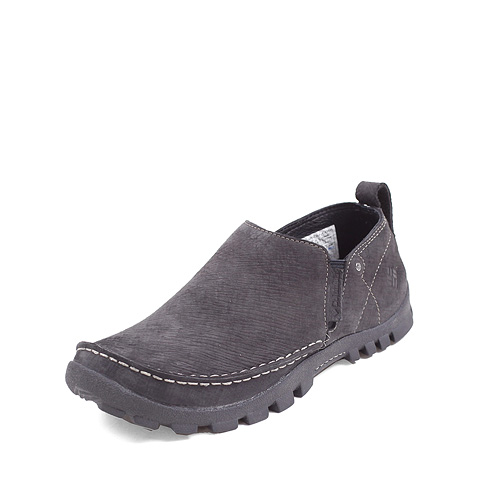 Columbia/哥伦比亚黑色男款粒面皮鞋面 超轻缓震防污防泼水一脚蹬户外休闲鞋DM1013011
