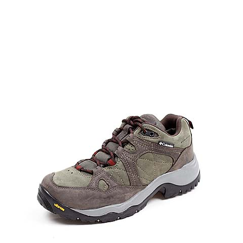 Columbia/哥伦比亚深灰色男款防水透气磨砂皮面V底登山鞋DM1009374