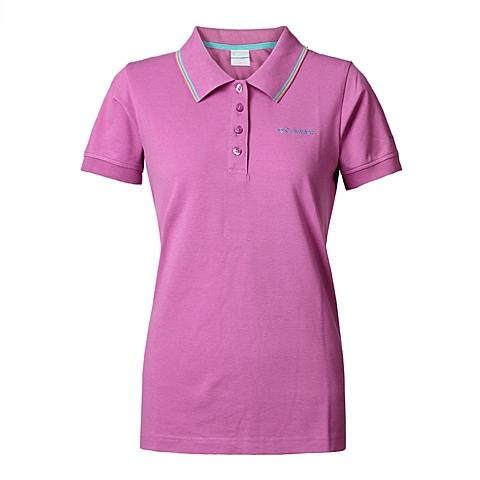 Columbia/哥伦比亚春夏女紫色户外运动速干防紫外线POLO短袖PL2944637