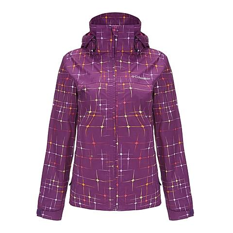 Columbia/哥伦比亚 专柜同款女子户外防风透气冲锋衣PL2414592