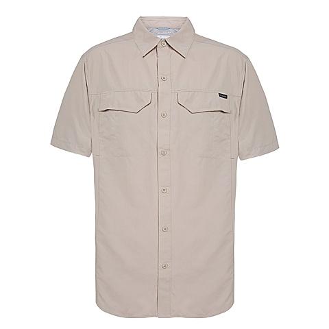 Columbia/哥伦比亚 男子户外休闲速干防晒短袖衬衫AE7474160