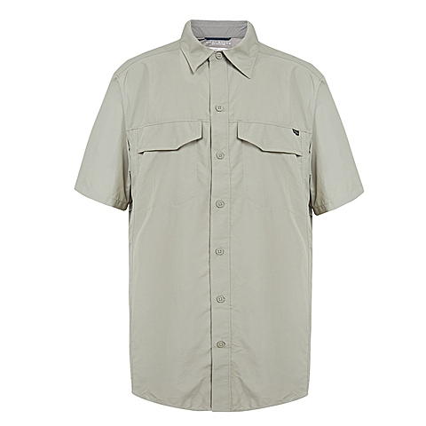 Columbia/哥伦比亚 男子户外休闲速干防晒短袖衬衫AE7474395
