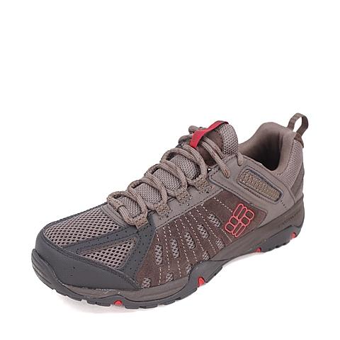 Columbia/哥伦比亚春季男款棕色超轻缓震/强抓地力户外徒步鞋BM3786