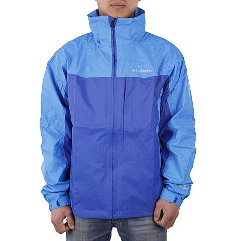 Columbia/哥伦比亚春季男款蓝色防水透气户外冲锋衣PM2483437