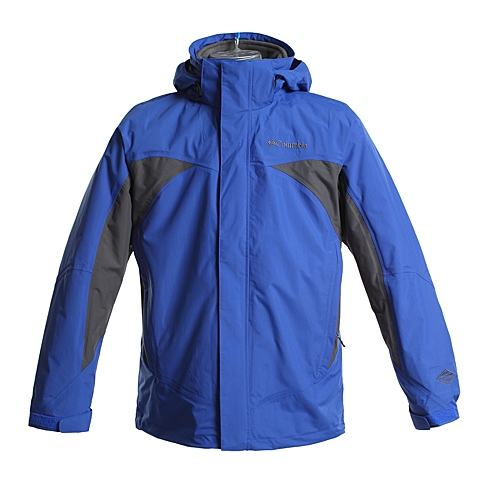 Columbia/哥伦比亚男子蓝色雪域挑战系列PARKA-三合一冲锋衣PM7847437