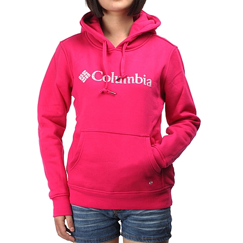 Columbia/哥伦比亚女子红色TRAIL 徒步系列SWEATSHIRT-卫衣LL6439600
