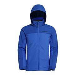 Columbia/哥伦比亚  男 蓝色 抗污科技 时尚经典剪裁 抓绒内胆 三合一冲锋衣 PM7781409