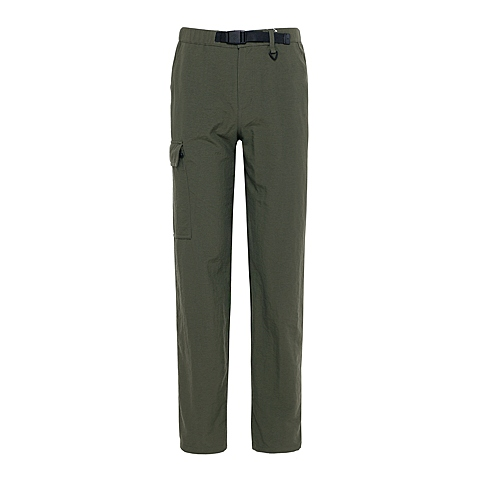 Columbia/哥伦比亚男军绿色抗污科技防紫外线UPF50可自行收纳为简易包帆布休闲长裤PM8747213